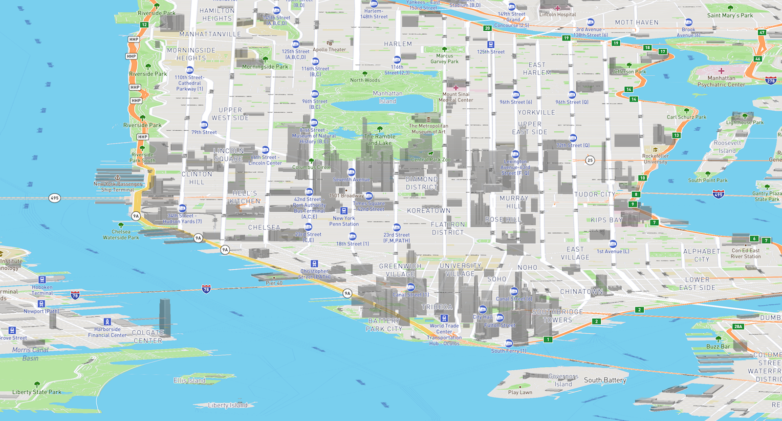Adjustable FOV webmaps with Mapbox